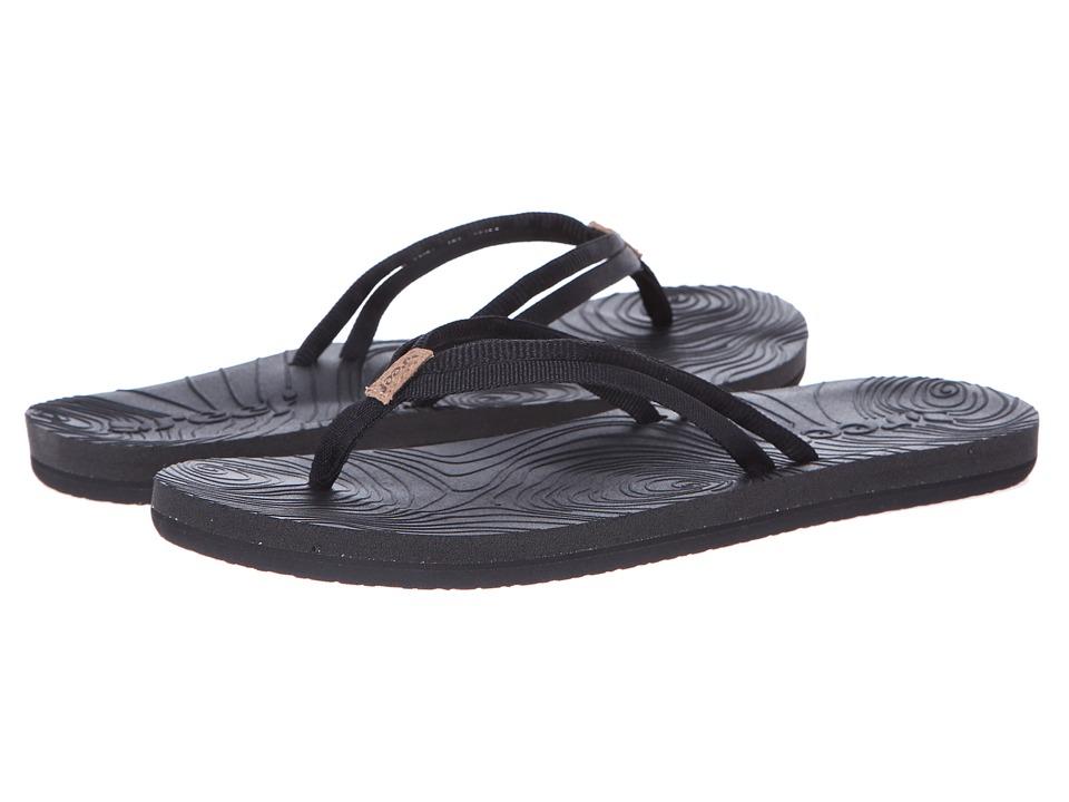 Reef - Double Zen (Black/Black) Women's Sandals