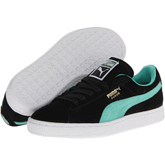 Suede Classic (Black/Electric Green) Shoes