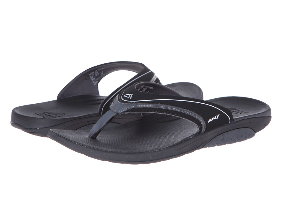 Reef - Stinger (Black/Silver) Men's Sandals