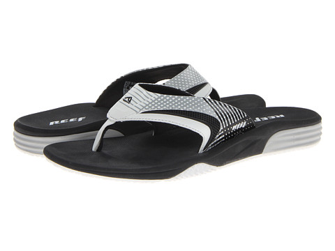 Reef - Phantom Player Prints (Black/White/Plaid) Men's Sandals