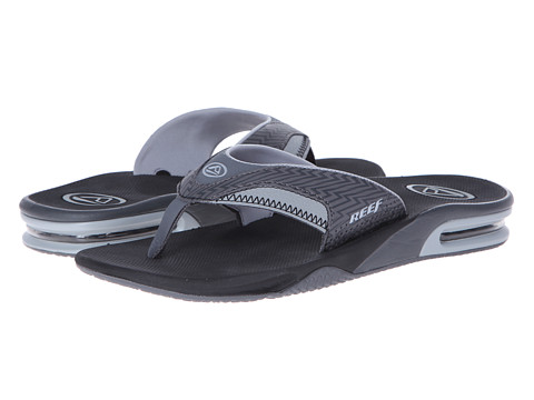 Reef - Fanning Prints (Black Lightning) Men's Sandals
