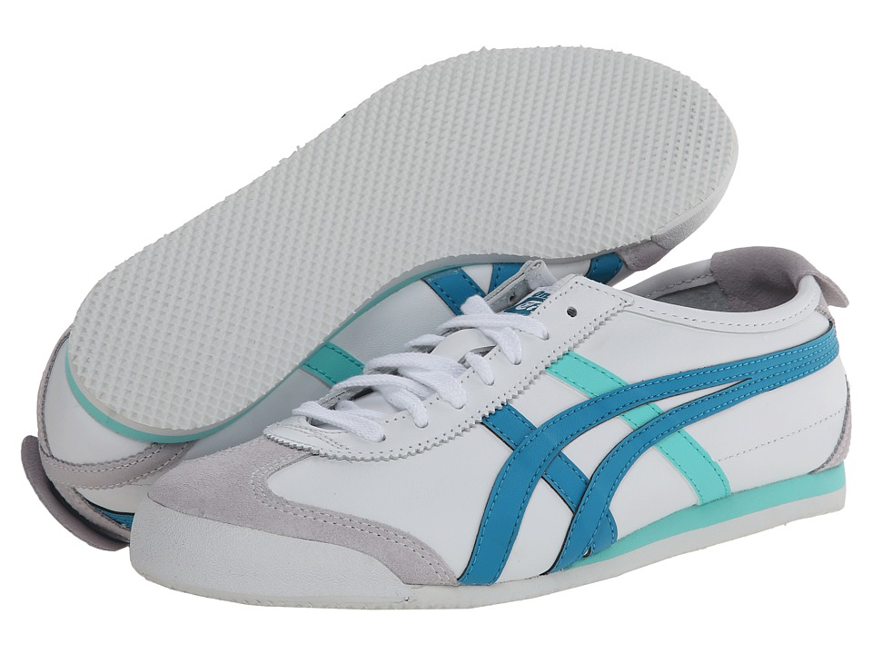 Onitsuka Tiger by Asics - Mexico 66 (White/Ocean Blue) Women's Classic Shoes