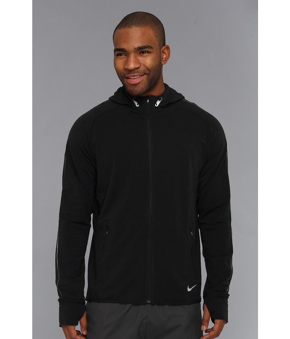 Nike - Dri-Fit Sprint Full-Zip (Black/Reflective Silver) Men's Coat