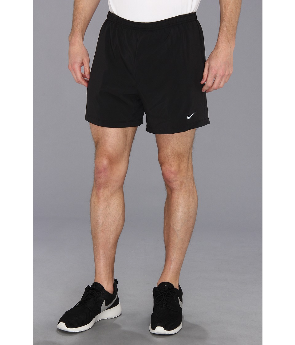 Nike - 5 Distance Running Short (Black/Black/Reflective Silver 1) Men's Shorts