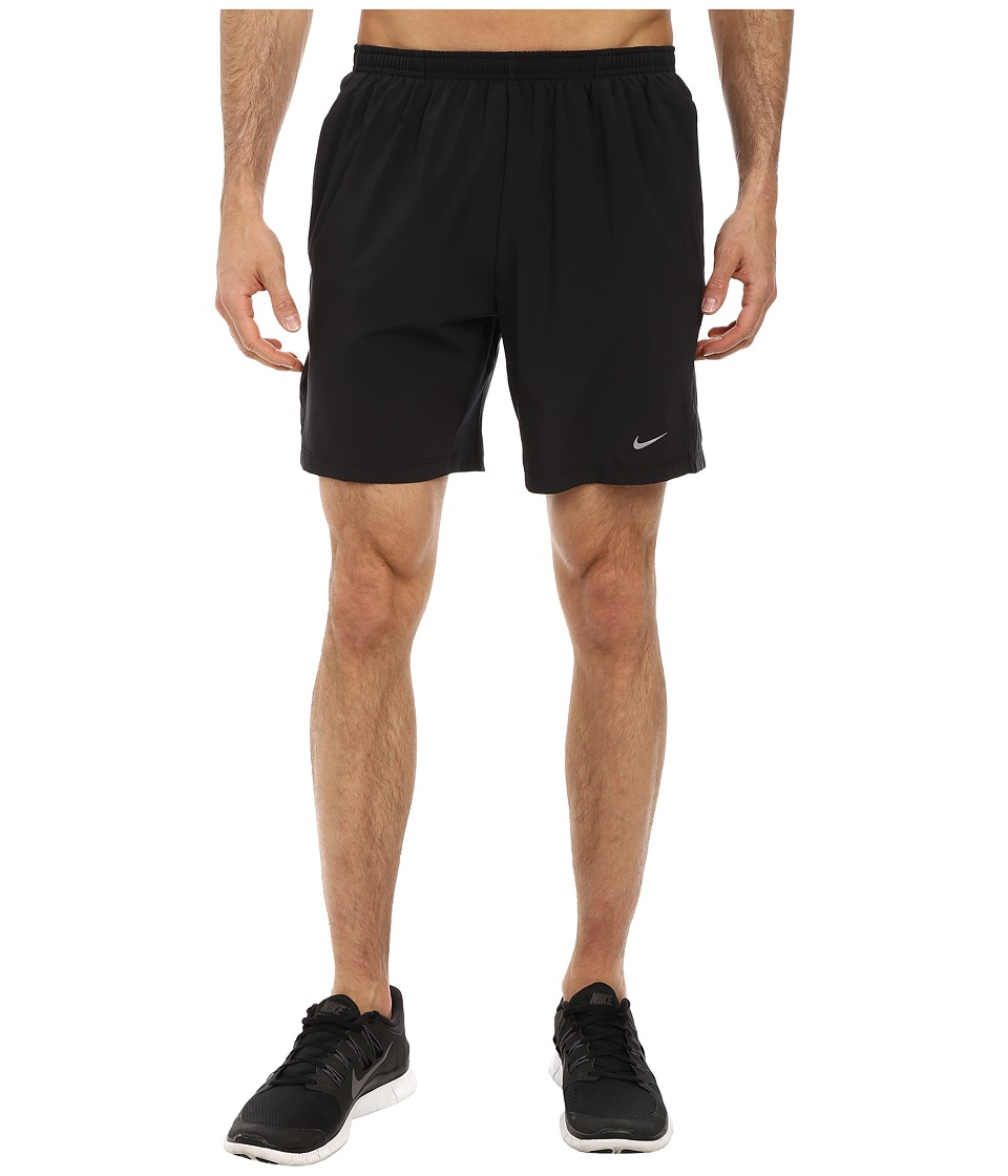 Nike - 7 Distance Short (Black/Black/Reflective Silver) Men's Shorts