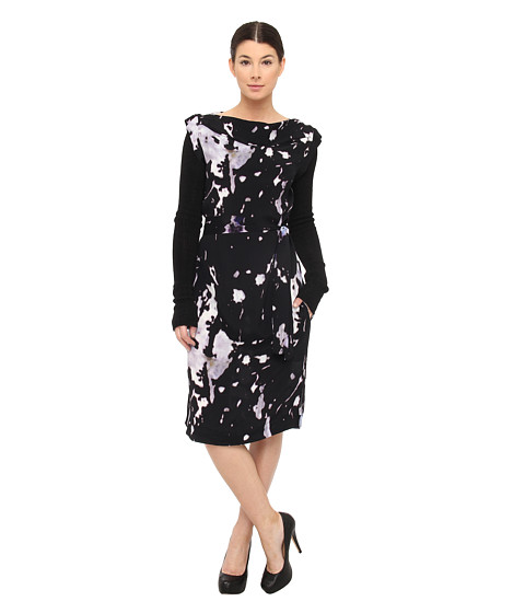 Vivienne Westwood Anglomania - Mural Dress (Purple/Black) Women's Dress