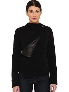 SALE! $484.99 - Save $396 on Vivienne Westwood Anglomania Mix Leather Voodoo Jacket (Black) Apparel - 44.95% OFF $881.00