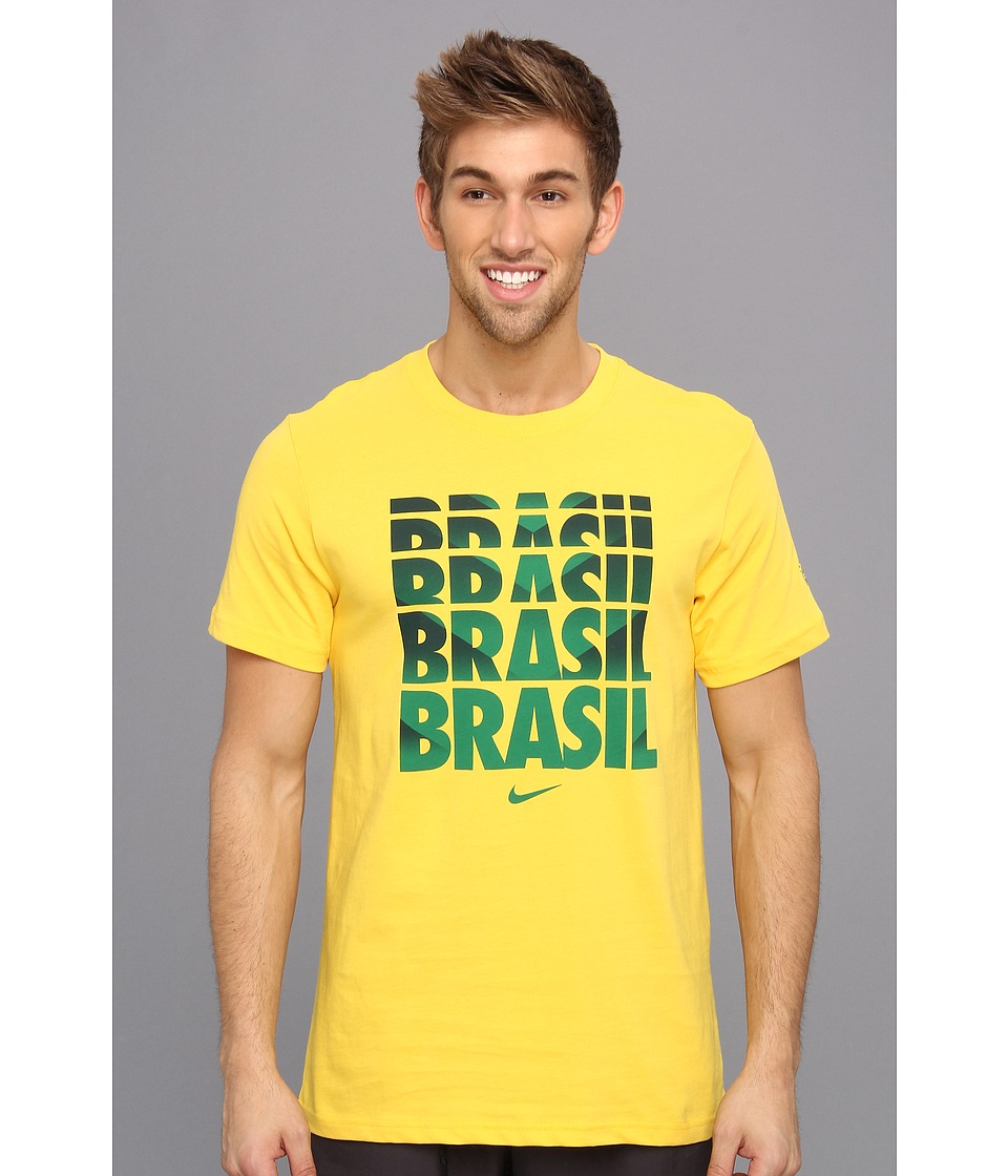Nike - Brazil Core Type Tee (Varsity Maize) Men's Short Sleeve Pullover
