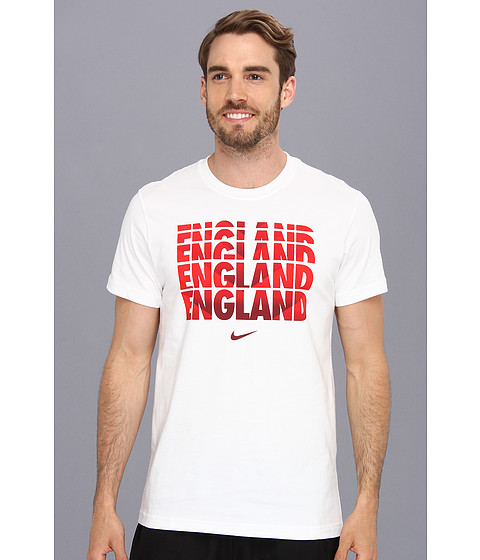Nike - England Core Type Tee (White) Men's T Shirt