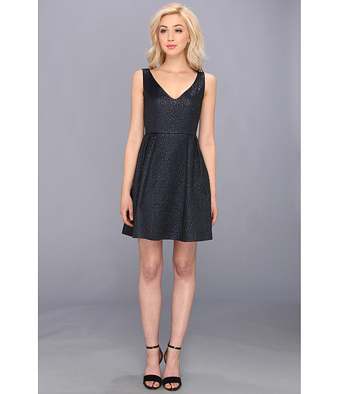 French Connection - Fast Katari Jacquard 71AXO (Utinlity Blue) Women's Dress