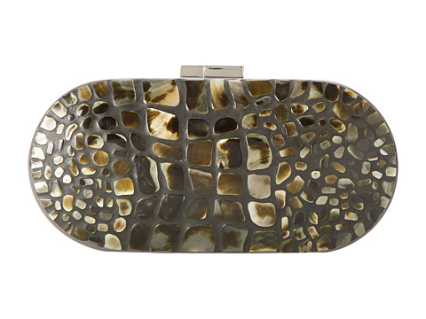 Rafe New York - Mary Alice Minaudiere (Black Lip Mother-of-Pearl) Clutch Handbags