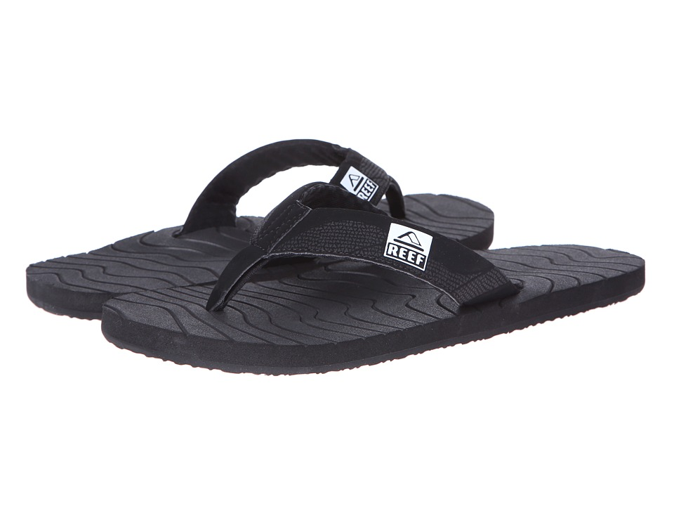 Reef - Roundhouse (Black/Black/White Multi Snake) Men's Sandals