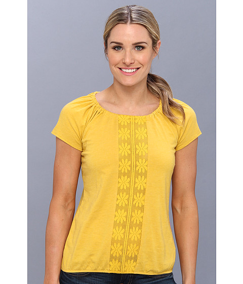 Prana - Jana Top (Lemon) Women's Short Sleeve Pullover