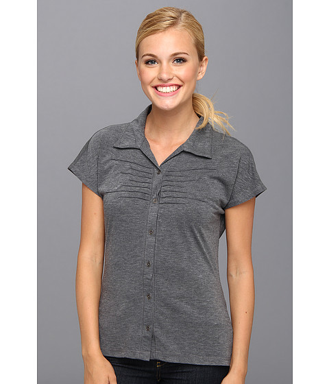 Prana - Alesandra Top (Coal) Women's Short Sleeve Button Up