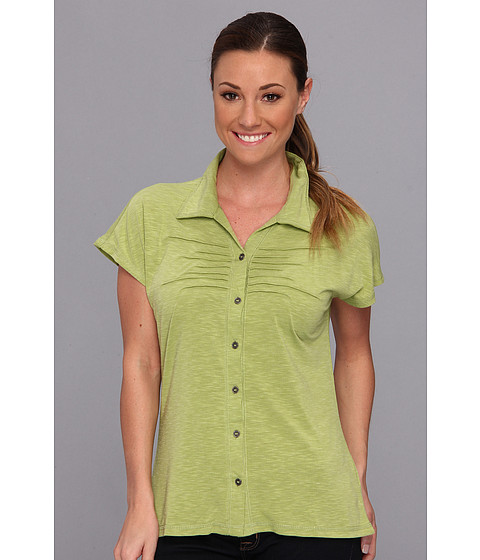 Prana - Alesandra Top (Spinach) Women's Short Sleeve Button Up
