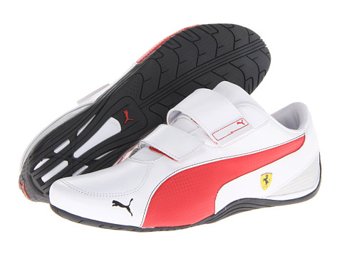 PUMA - Drift Cat 5 Ferrari AC NM (White/Rosso Corsa) Men's Shoes