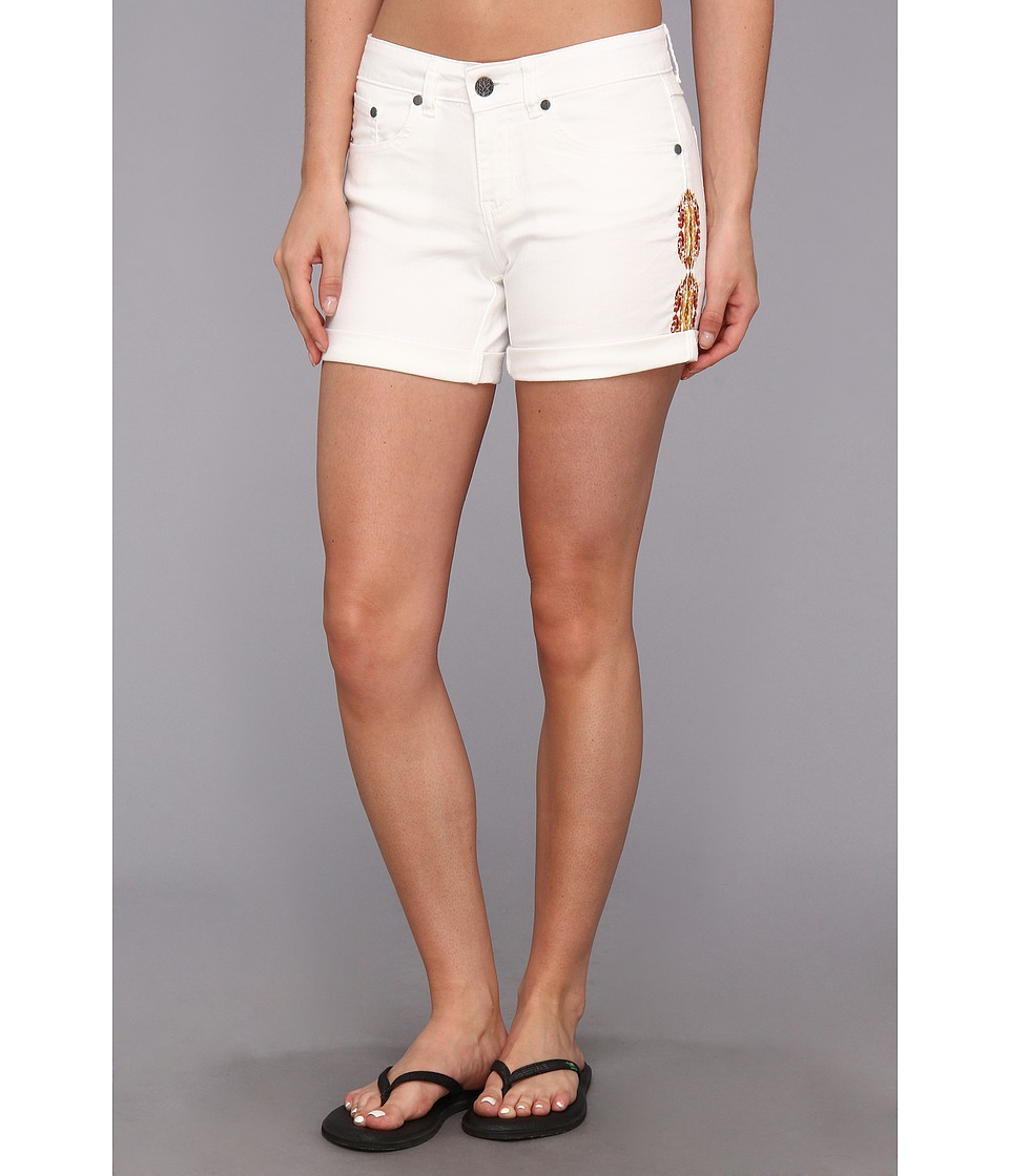 Prana - Kara Denim Short (White) Women