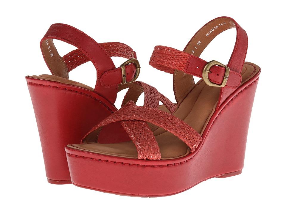 Born - Estefania (Red) Women's Wedge Shoes