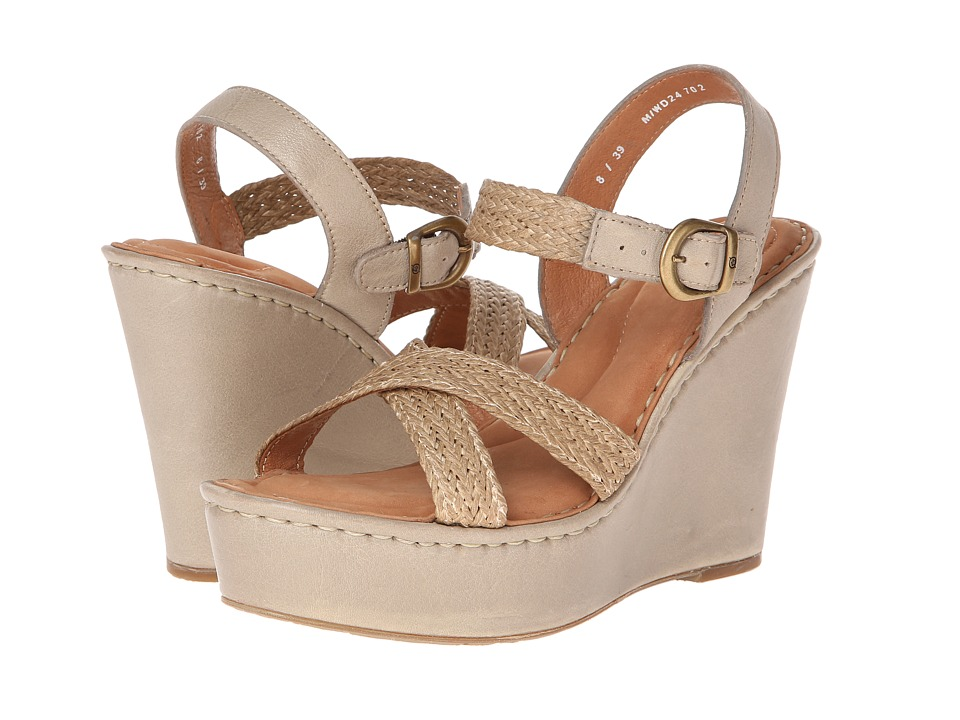 Born - Estefania (Stone (Natural)) Women's Wedge Shoes