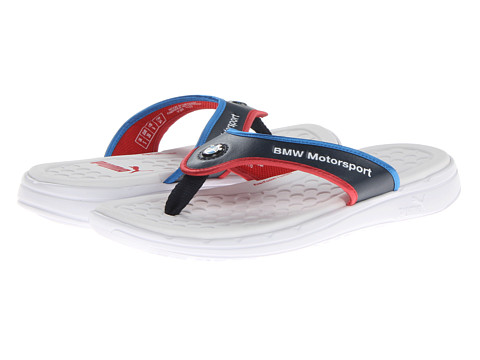 ff7bb66815ae ... UPC 887121413939 product image for PUMA BMW Slip In Thong Sandal (White Bmw  Team ...