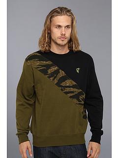 SALE! $16.99 - Save $37 on Famous Stars Straps Tiger Flag Crewneck Pullover (Black Olive Tiger Camo) Apparel - 68.54% OFF $54.00