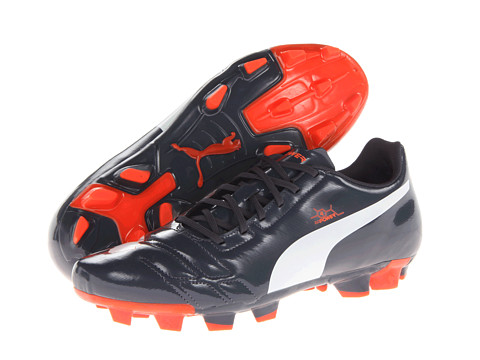 PUMA - Evopower 4 FG (Ombre Blue/White/Fluro Peach) Men's Shoes
