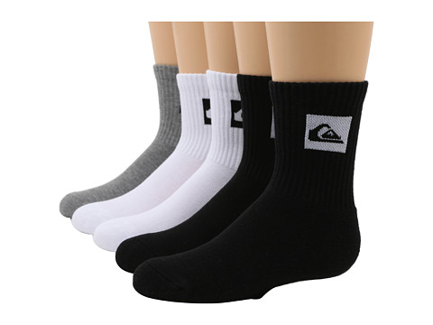 Quiksilver - Legacy Crew 5-Pair Pack (Big Kids) (Assorted) Men's Crew Cut Socks Shoes