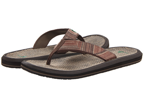Sanuk - Vago Grande (Brown Stripes) Men's Sandals