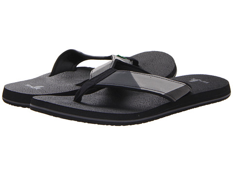 Sanuk - Block Party (Black/Charcoal) Men's Sandals