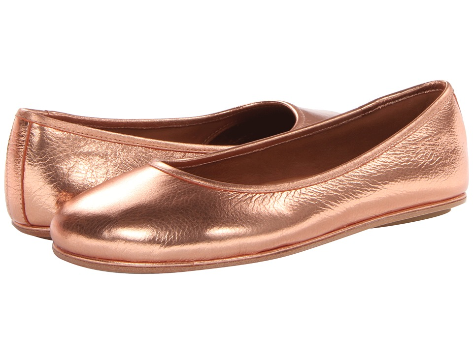 Gentle Souls - Gigi (Copper Metallic Suede) Women's Dress Flat Shoes
