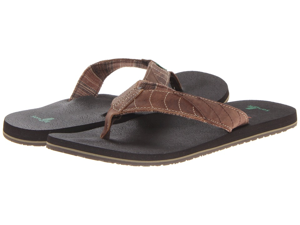 Sanuk - Pave the Wave (Dark Brown/Tan) Men's Sandals