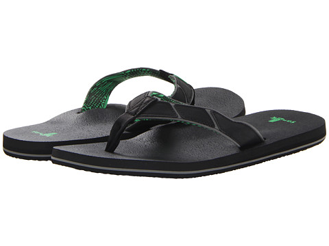 Sanuk - Tribune (Black) Men's Sandals