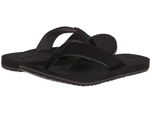 Sanuk - OG Squoosh (Black) Men's Sandals