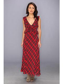 SALE! $59.99 - Save $108 on Free People Viscose Crinkle Venitia Dress (Scarlet Combo) Apparel - 64.29% OFF $168.00