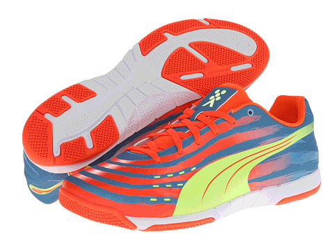 PUMA - Trovan Lite (Sharks Blue/Fluo Peach/Fluro Yellow) Men's Soccer Shoes
