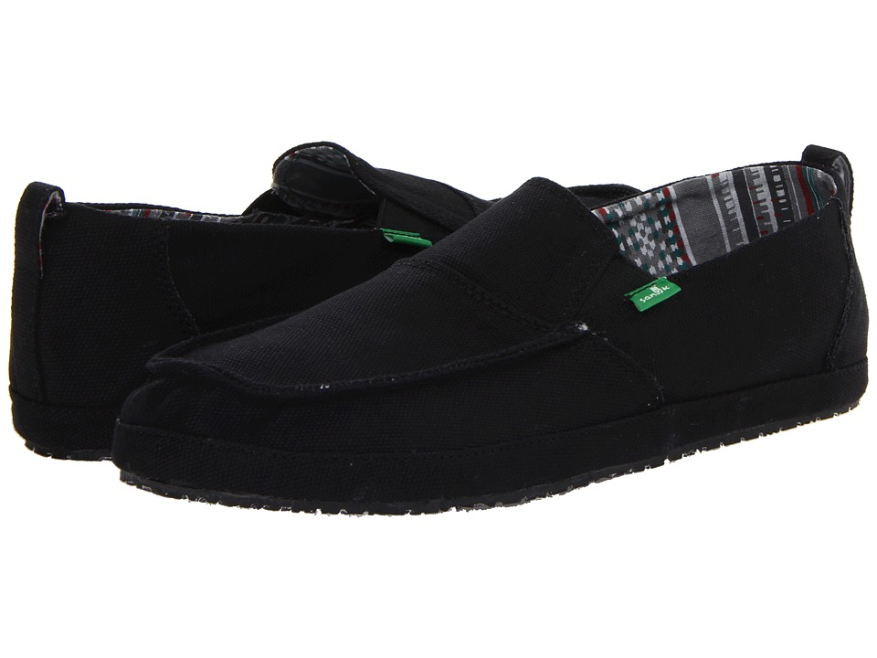 Sanuk - Commodore (Black) Men's Slip on Shoes