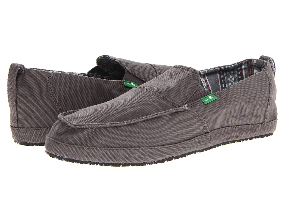 Sanuk - Commodore (Charcoal) Men's Slip on Shoes