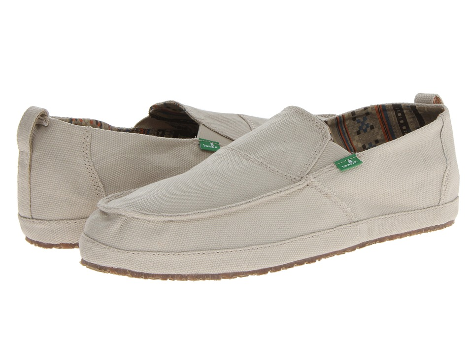 Sanuk - Commodore (Tan) Men's Slip on Shoes