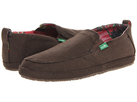 Sanuk - Seeker (Dark Brown) Men's Slip on Shoes