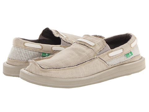 Sanuk - Skipjack (Natural/Seersucker) Men's Shoes