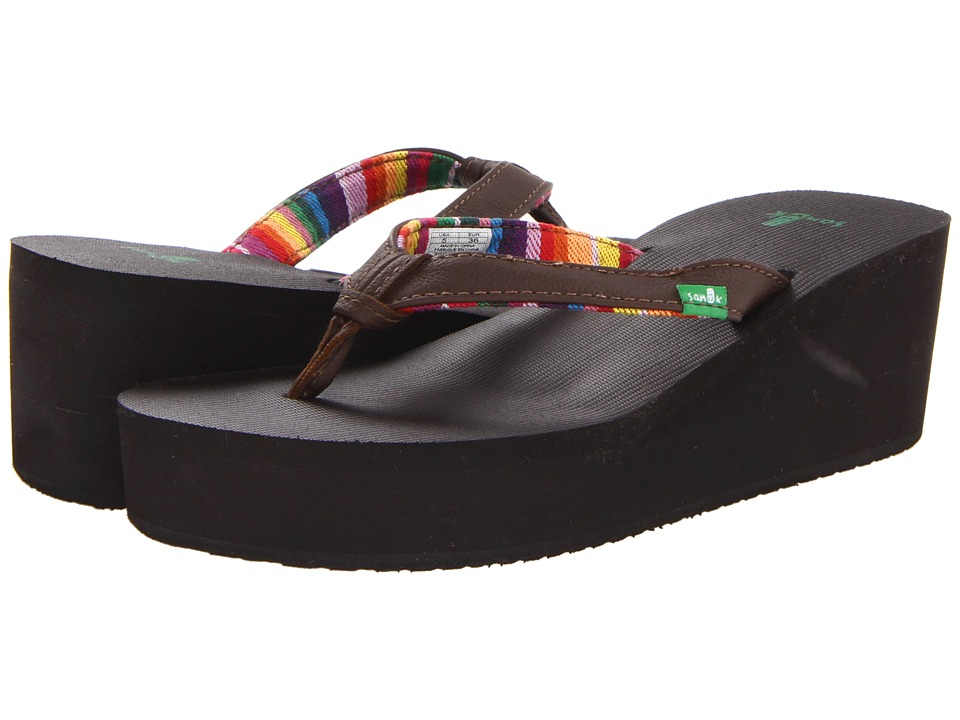 Sanuk - Springwater Wedge (Brown) Women's Sandals