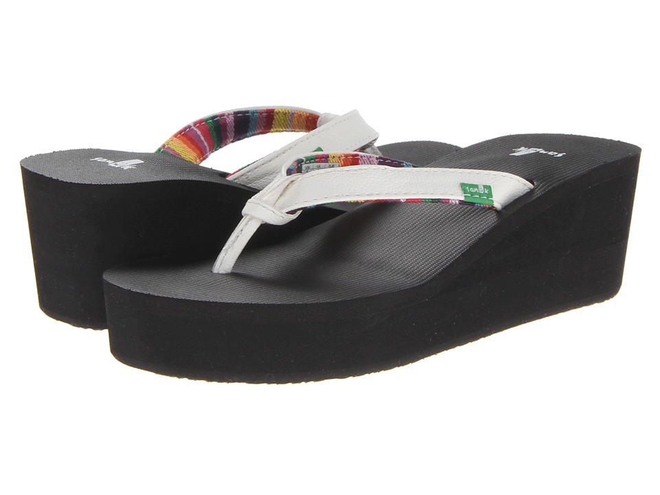 Sanuk Springwater Wedge (White) Women
