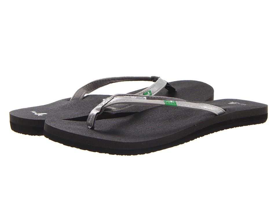 Sanuk - Yoga Joy Metallic (Silver) Women's Sandals