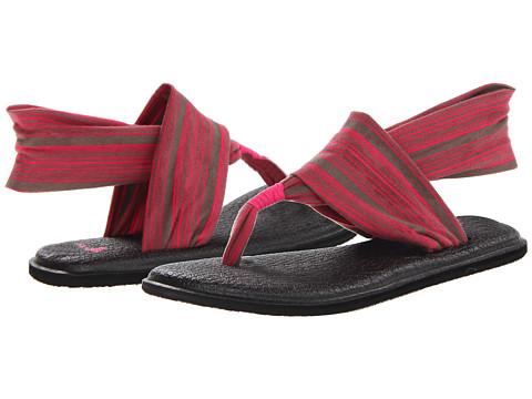Sanuk - Yoga Sling 2 (Charcoal/Hot Pink) Women's Sandals