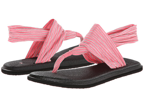 Sanuk - Yoga Sling 2 (Neon Pink) Women's Sandals