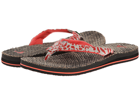 Sanuk - Yoga Wildlife Jute (Coral Leppatyga) Women's Sandals