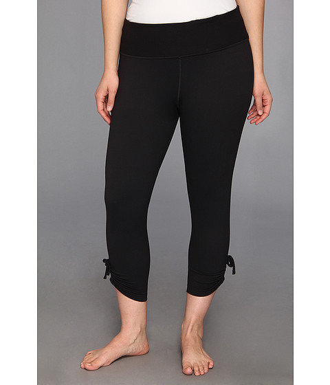 Moving Comfort - Plus Size Urban Gym Capri (Black) Women's Capri