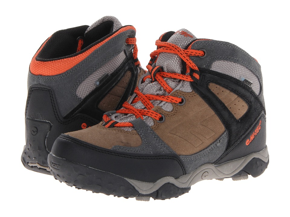 Hi-Tec Kids - Tucano WP Jr (Toddler/Little Kid/Big Kid) (Desert/Black/Tangelo) Boy's Shoes