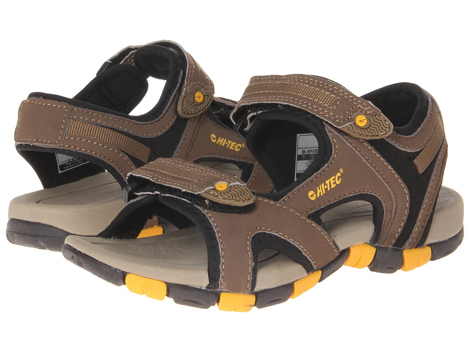 Hi-Tec Kids - GT Strap Jr (Toddler/Little Kid/Big Kid) (Smokey Brown/Taupe/Gold) Boy's Shoes
