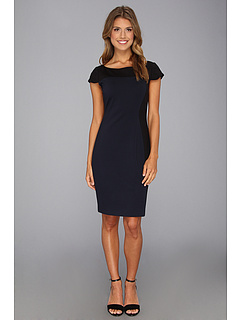 SALE! $136.99 - Save $111 on Elie Tahari Dixie Double Knit Dress (Midnight Dream) Apparel - 44.76% OFF $248.00